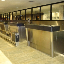 TIA TICKET COUNTERS AND BACK WALL REFINISHED